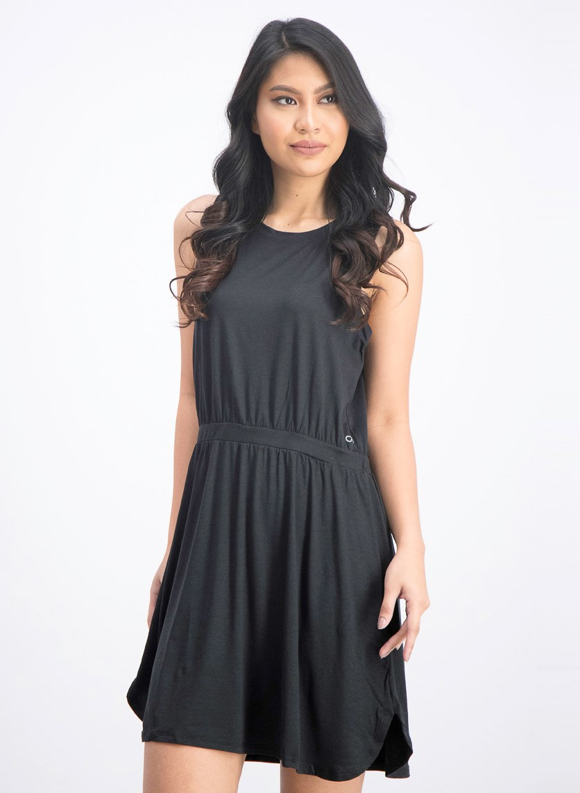Women's Brushed Jersey Dress, Black
