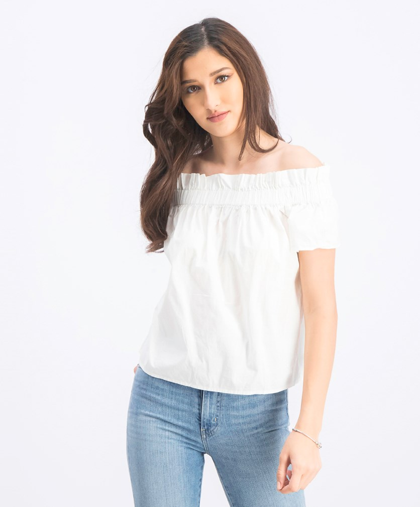 Women's Off Shoulder Blouse, Off White