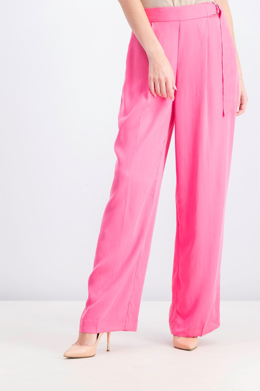 Women's Tencel High Waistband Trouser, Pink