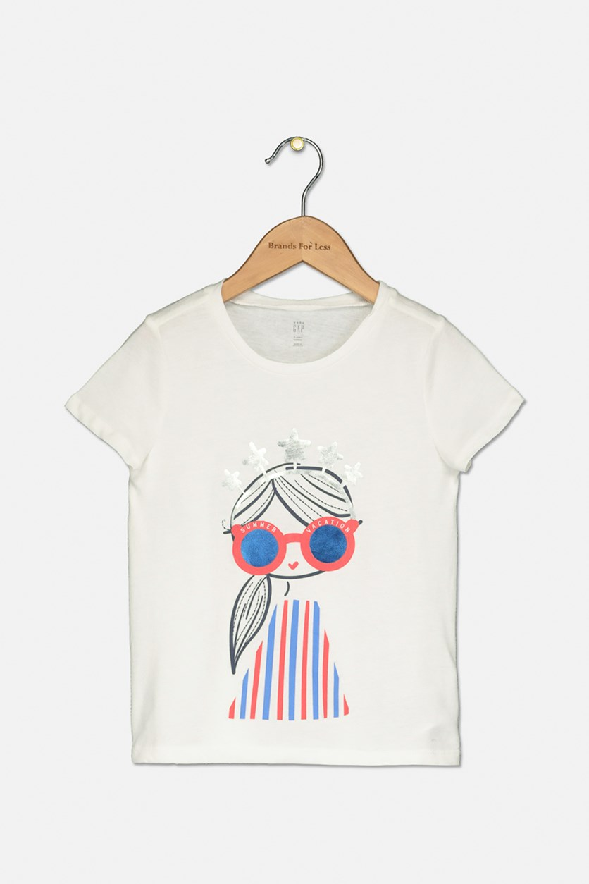 Toddler Graphic Top, White