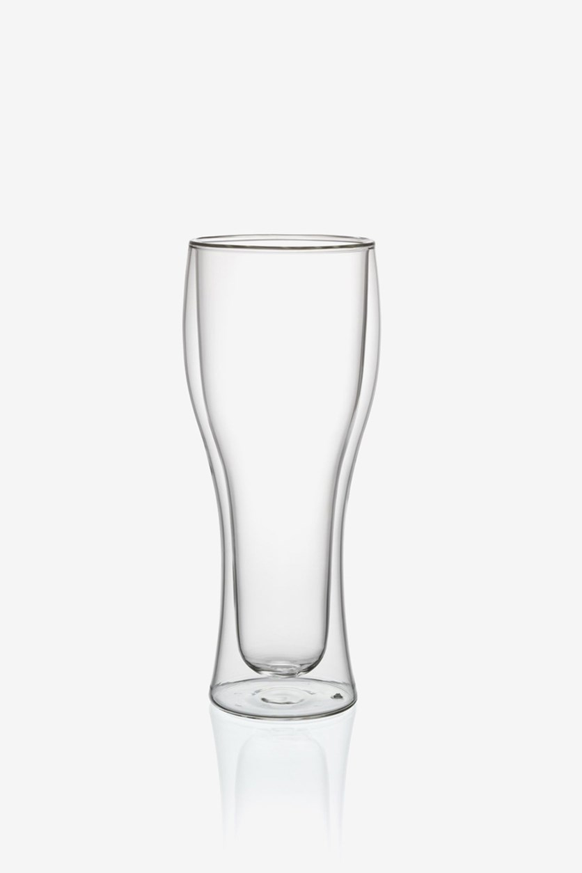 Hot & Cold Tall Tumbler Double Wall Glasses, Transparent