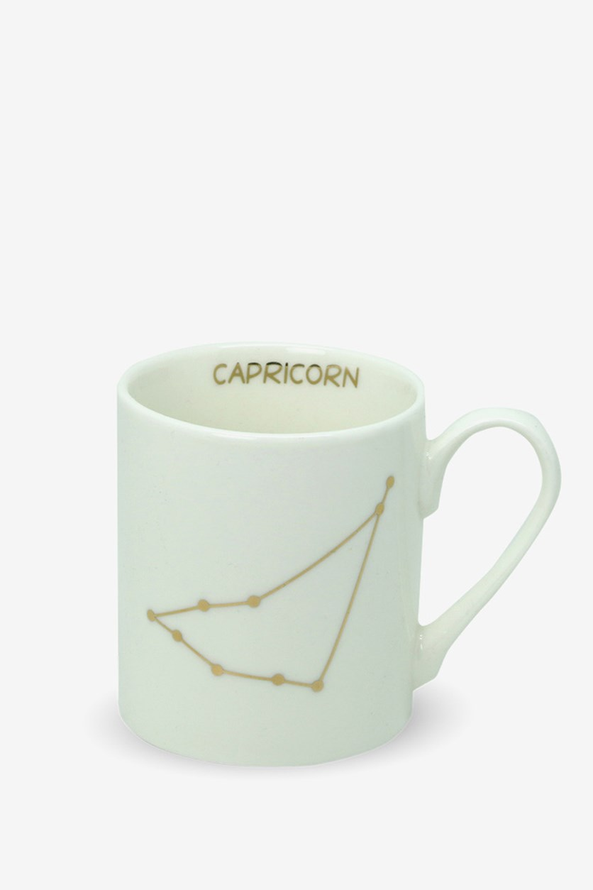 Capricorn Print Mini Mug, White