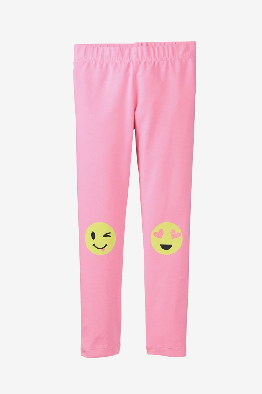 Kids Girls Pull On Leggings, Pink