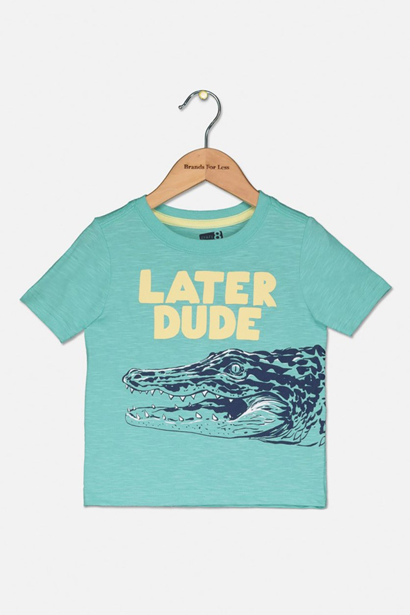 Kids Boy's Short Sleeve Graphic T-Shirt, Turquoise