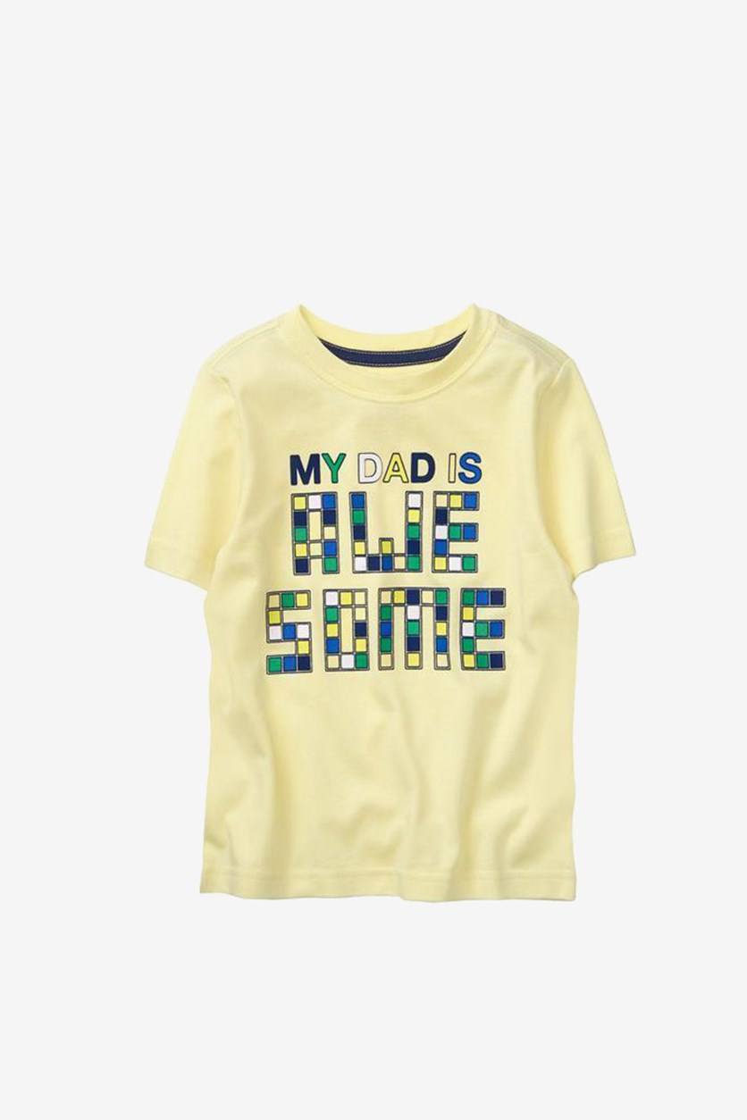 Toddler Boy's Short Sleeve Graphic T-Shirt, Yellow