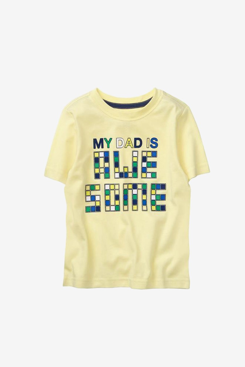 Kids Boy's Short Sleeve Graphic T-Shirt, Yellow