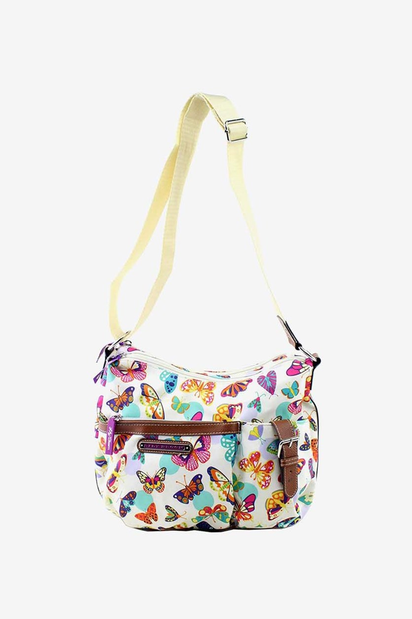 Butterfly Twister Kathryn Hobo Cross Body Bag, Cream Combo