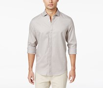 Alfani Men's Chevron Cotton Shirt, Tiramisu