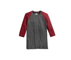 American Rag Men's Everyday Baseball T-Shirt, Dark Grey/Maroon