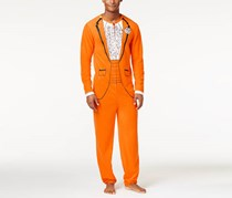 American Rag Men's Tux Faux-Fleece Onesie Costume, Orange
