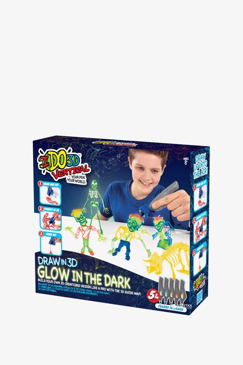 Glow In The Dark Creative, Yellow/Green/Red/Blue