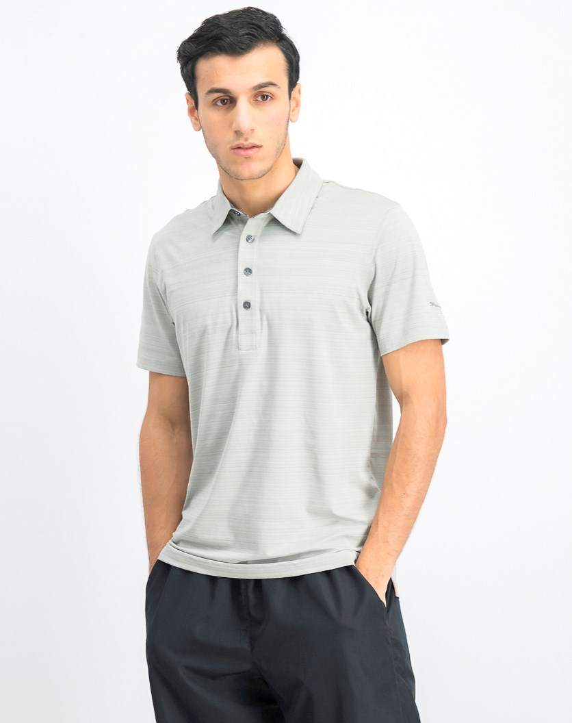 Men's Golf Barcode Polo, Limestone