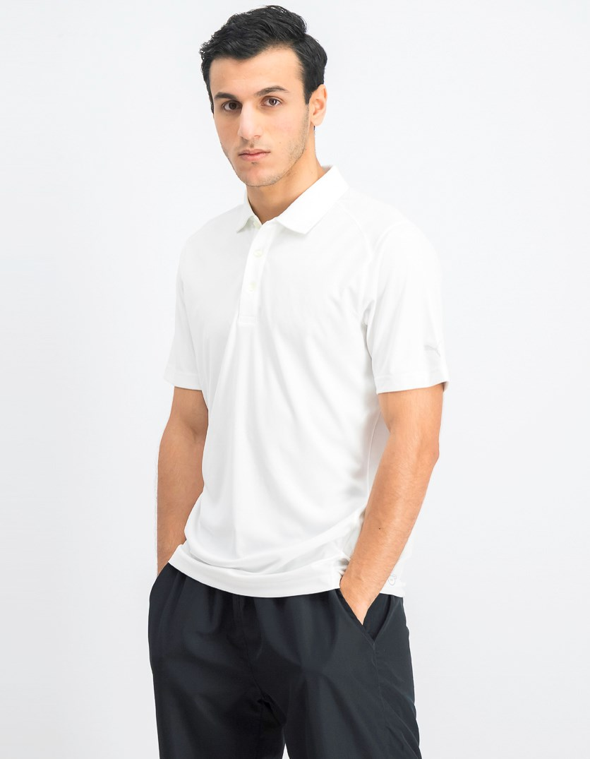Men's Essential Pounce Polo, White