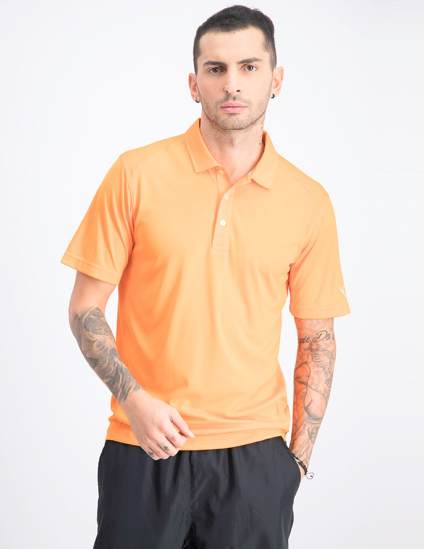 Men's Essential Pounce Polo, Vibrant Orange