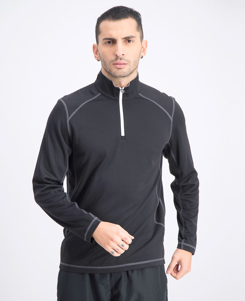 Men's Golf Tech 1/4 Zip Sweater, Black