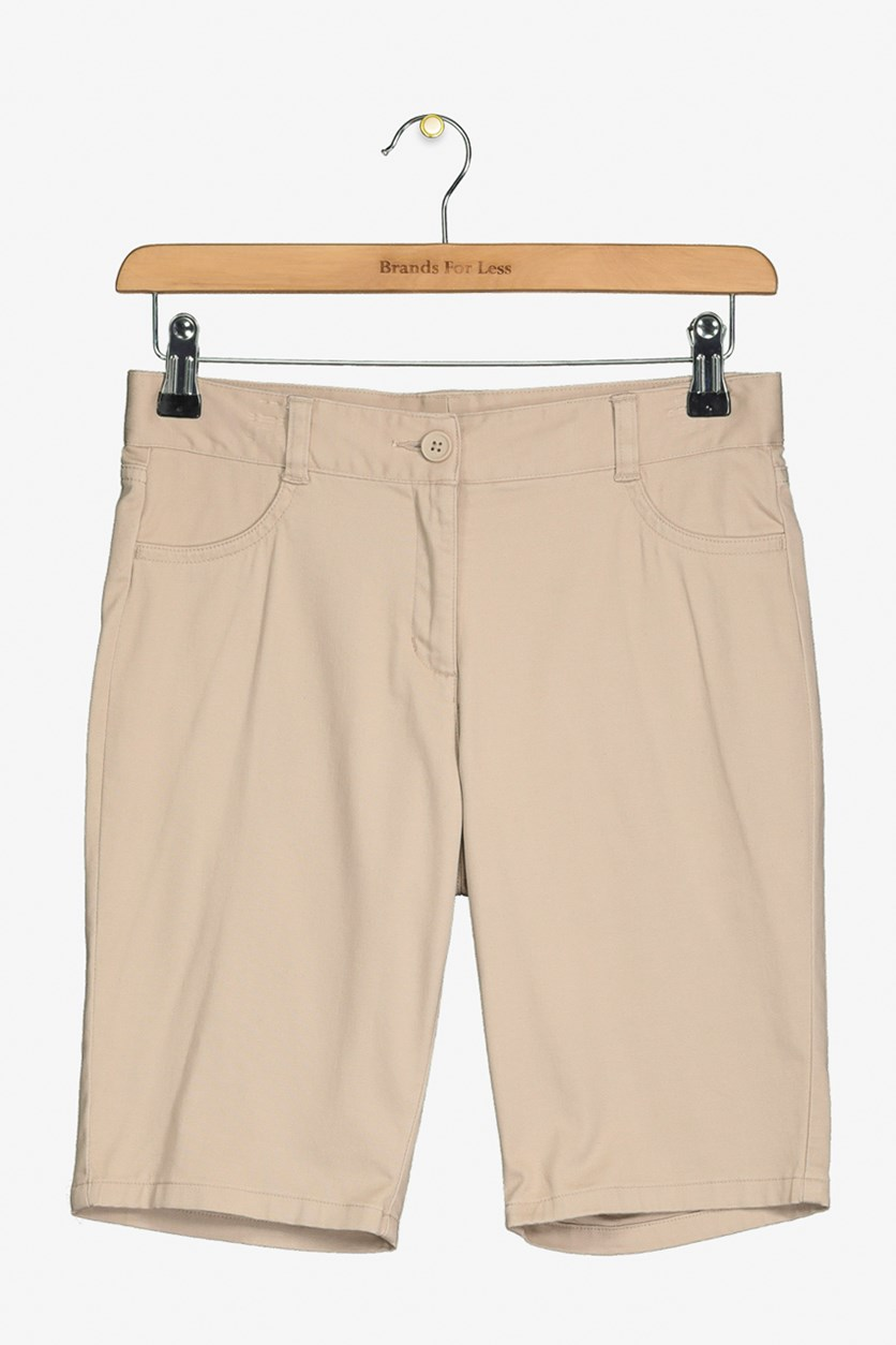 Girls School Uniform Short, Khaki