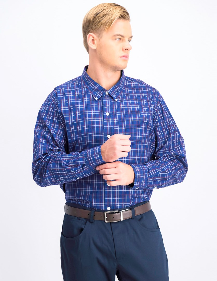Men's Standard Fit Button Down Shirt, Blue