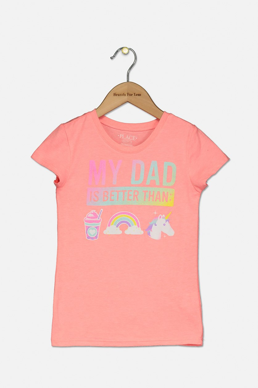 Kid's Girl's Graphic Top, Coral Reef