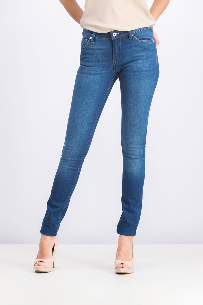 Women's Skinny Jeans, Blue Washed