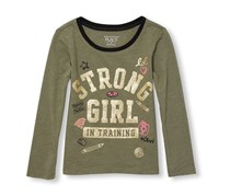 The Children's Place Girl's T-Shirt, Olive