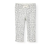 The Children's Place Girl's Leopard Pant, White/Grey
