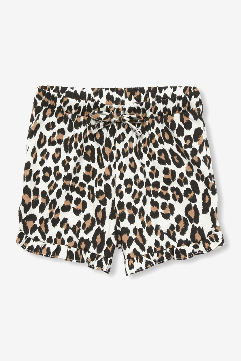 Kids Girls Leopard Short, Bunnys Tail