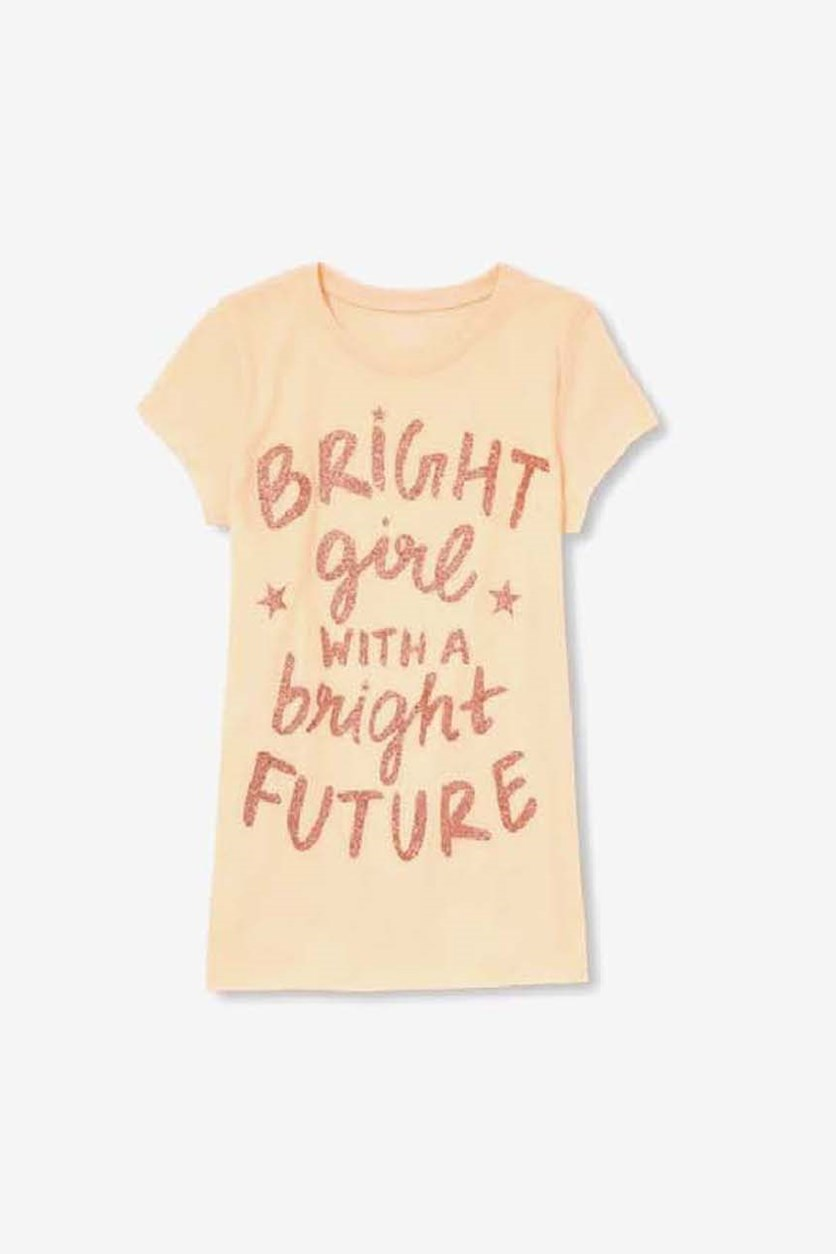 A Bright Girl With A Bright Future Top, Peach