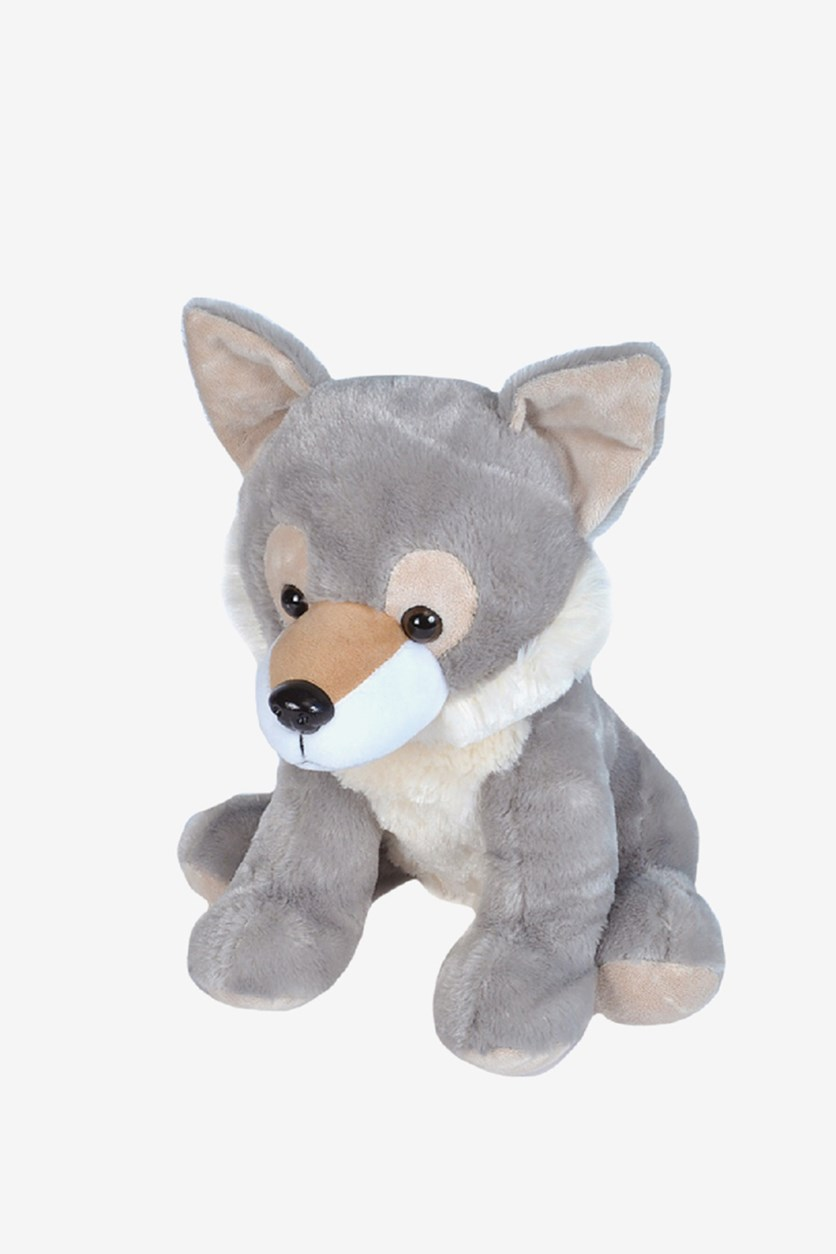 Wolf Cuddly Soft Toys, Grey