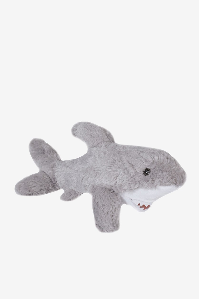 Great White Shark Cuddly Plush Toy, Light Grey