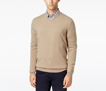 Club Room Cashmere V-Neck Solid Sweater, Natural Heather