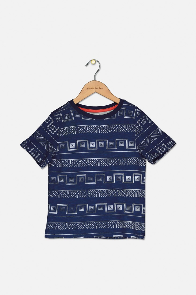 Kids Boy's Short Sleeve T-Shirt, Navy