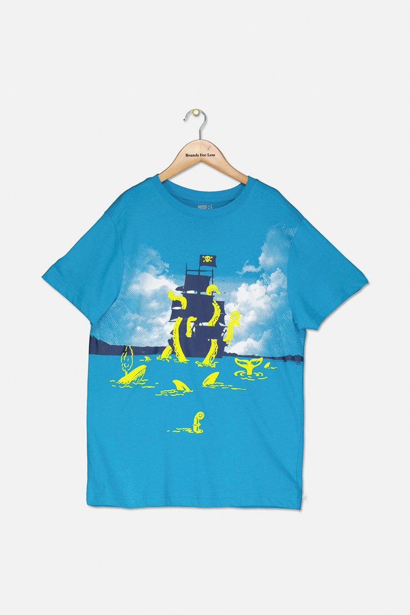 Big Boys Graphic T-Shirt, Blue