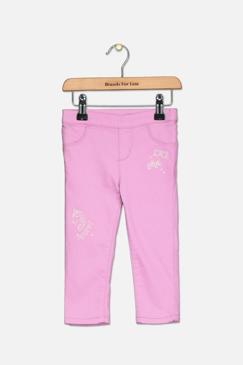 Toddlers Girl's Pull-on Pants, Lilac