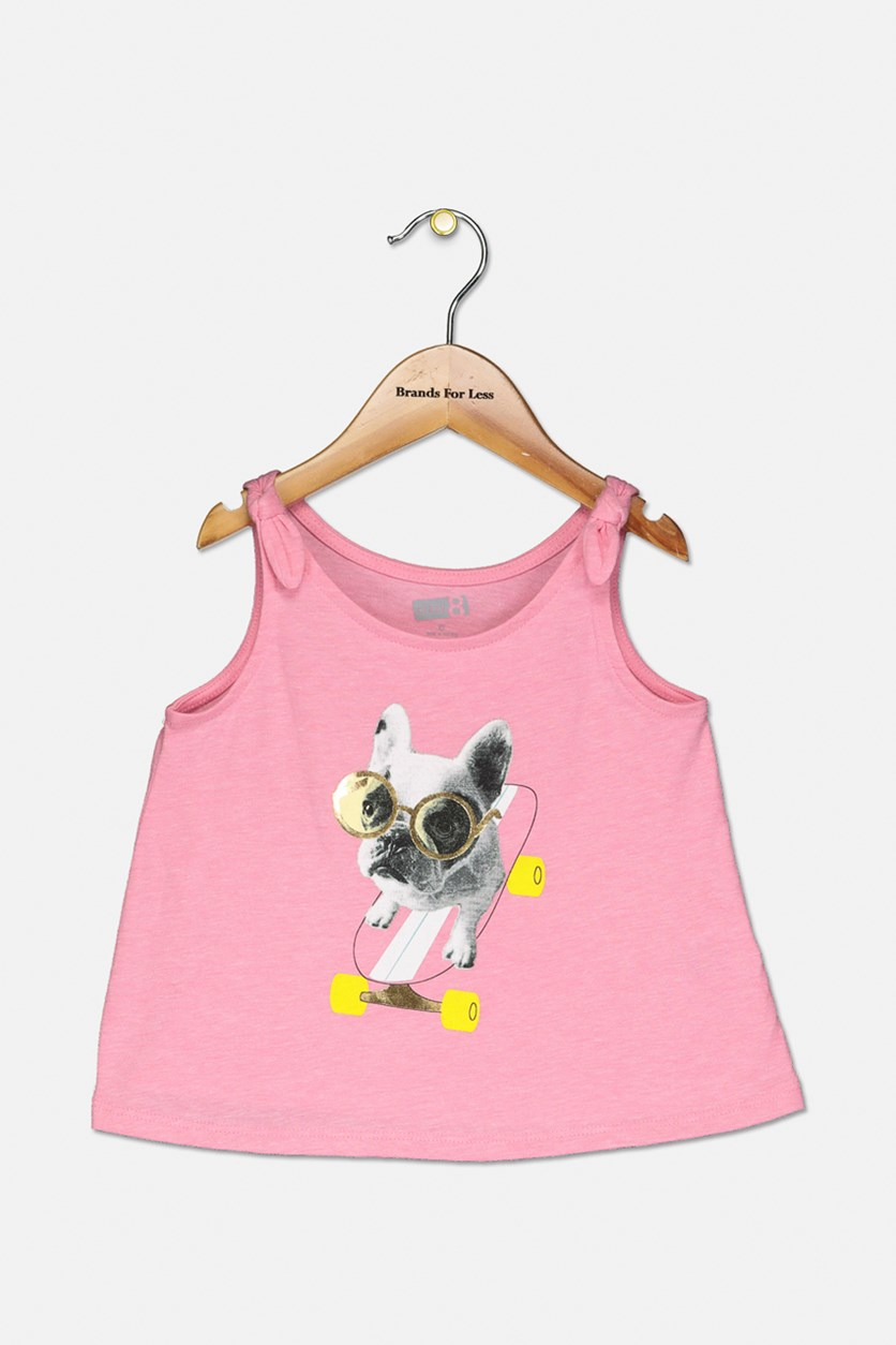 Toddlers Girl's Sleeveless Top, Pink