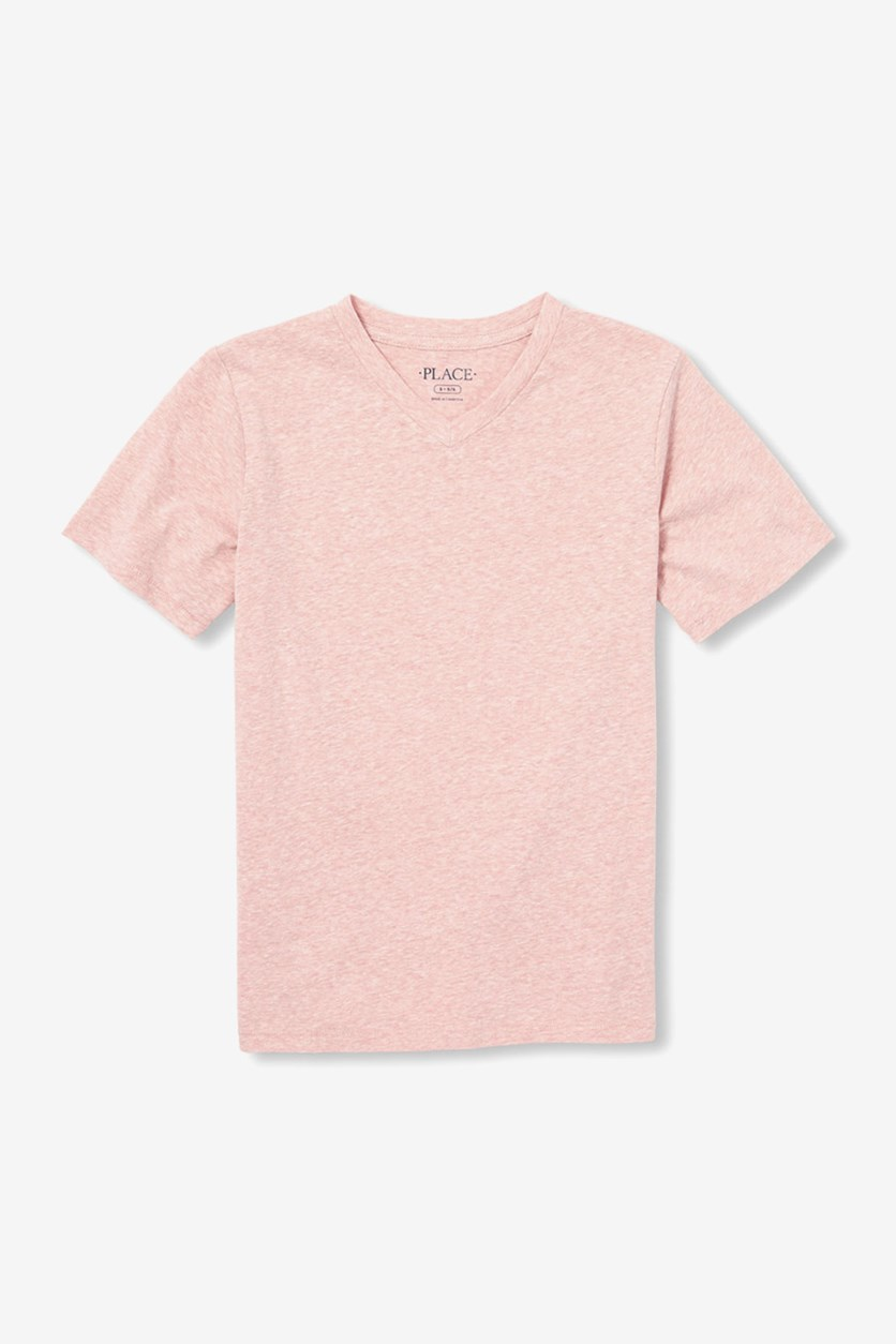 Big Girls Plain V Neck Shirt, Enamored