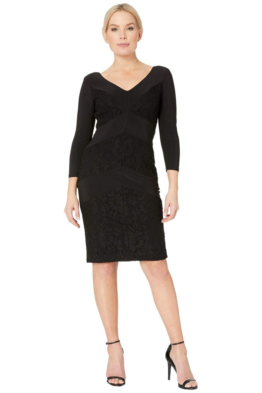 Women's Namaka Matte Sheath Dress, Black