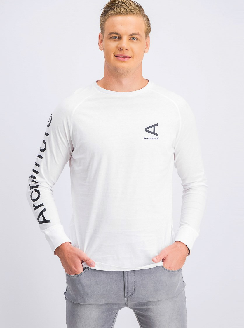 Men's Longsleeves T-shirt, White