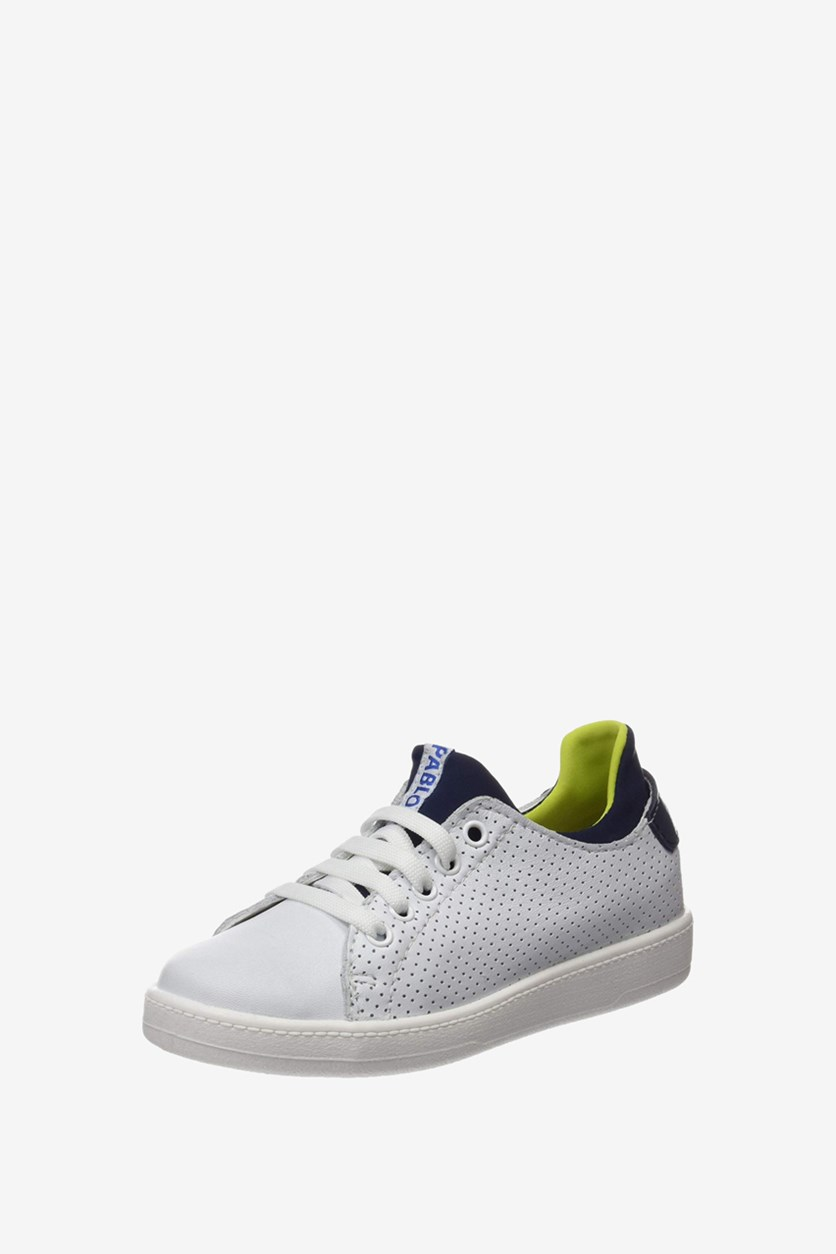 Kids Boy's Lace Up Shoes, White