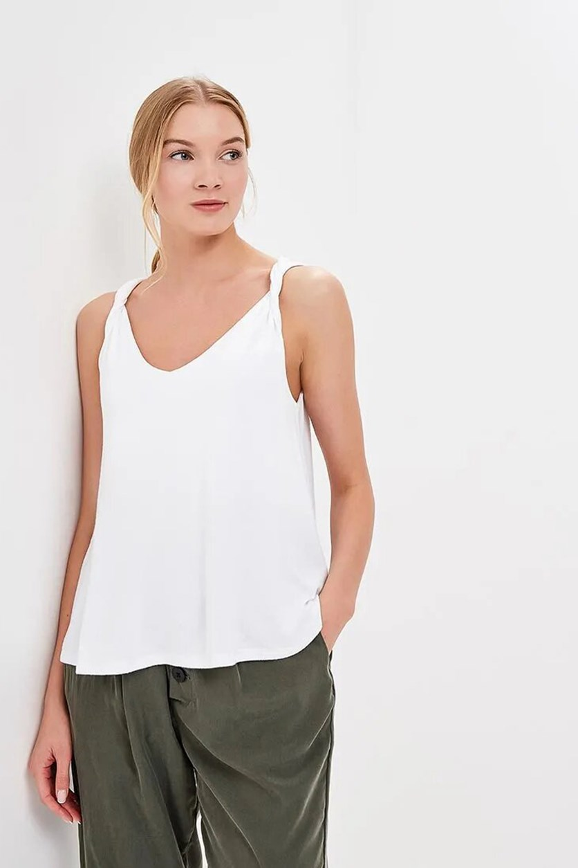 Women's Twist Tank, White