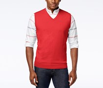 Club Room Men's Knit V-Neck Sweater Vest, Lipstick Coral