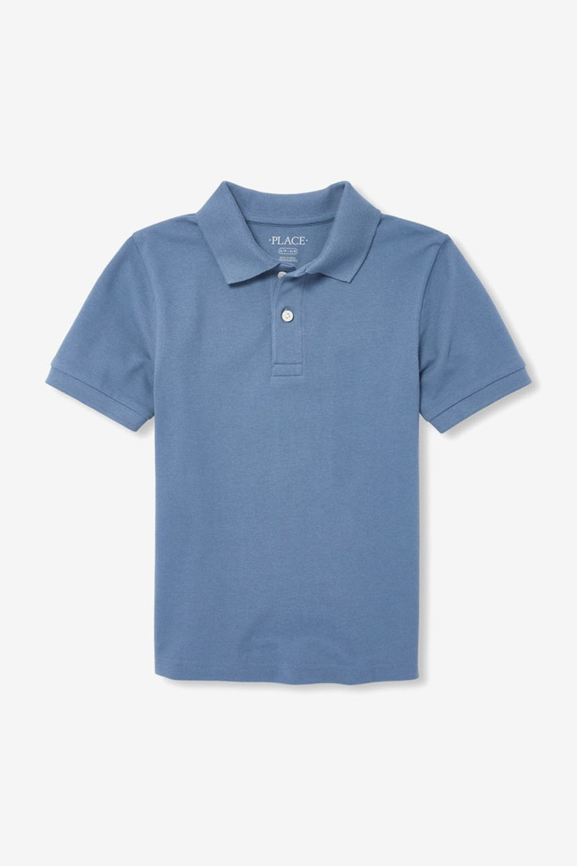 Boy's Short Sleeve Pique Polo, Hudson Bay/Blue