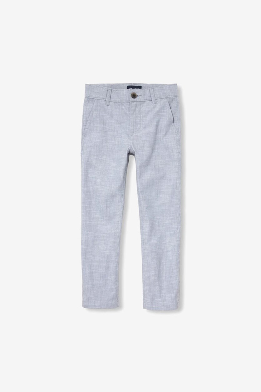 Boy's Woven Dress Pants, Fin Gray