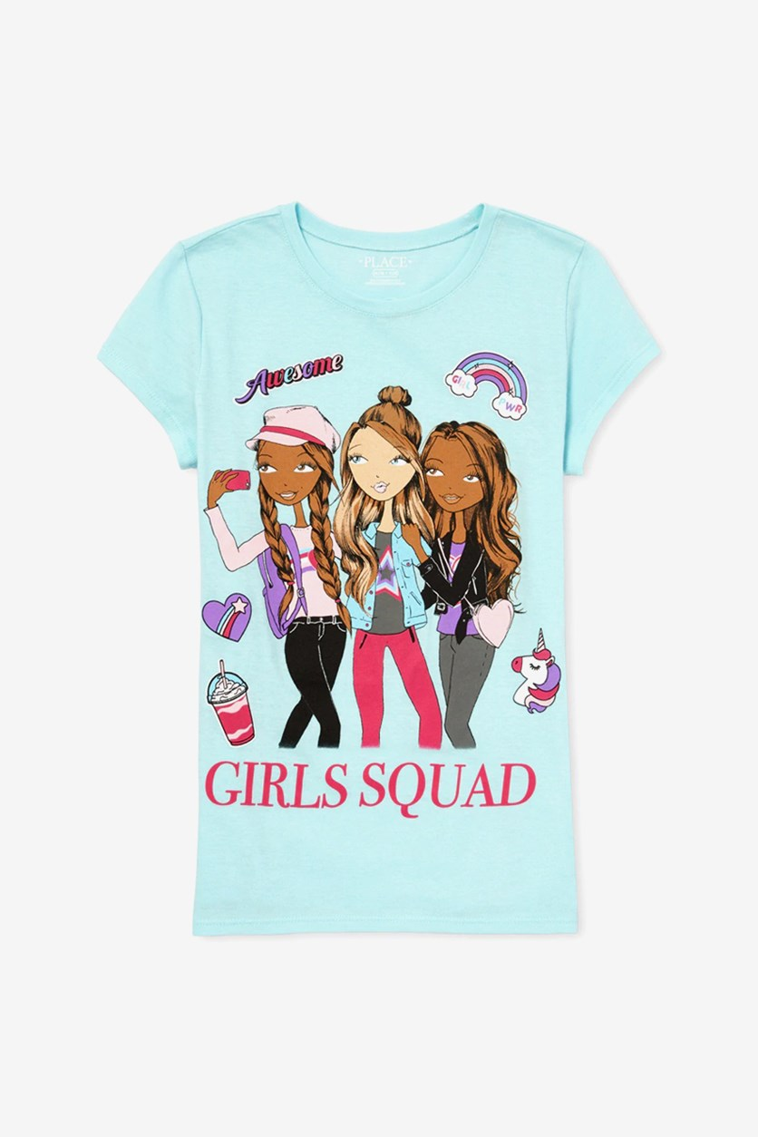 Awesome Girl's Squad Top, Aqua