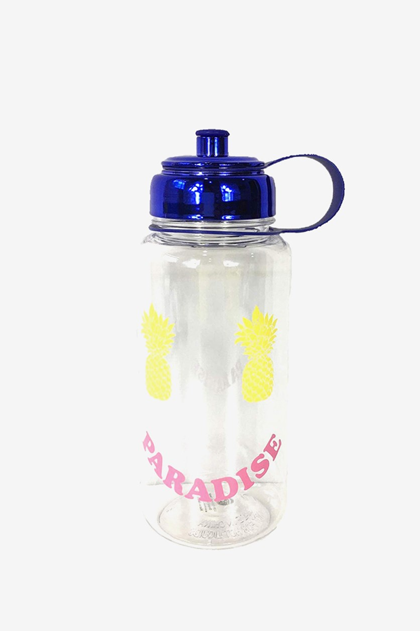 Pineapple & Paradise Smile BPA Free Water Bottle, Blue
