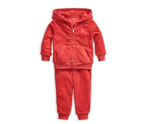 Baby's Two-piece Hoodie & Jogger Pants Set, Red