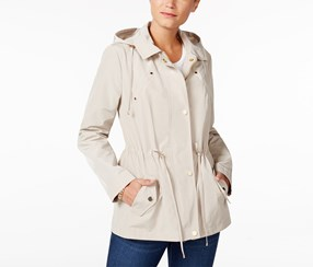 Charter Club Water-Resistant Hooded Utility Jacket, Sedona Dust