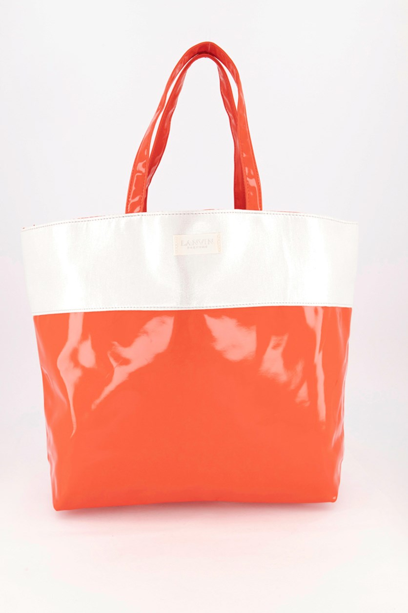 Women's Tote Bag, Red/Silver