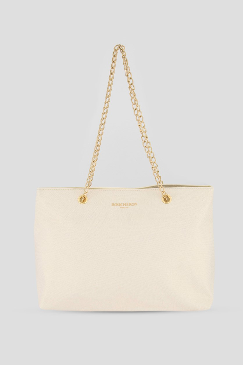 Women's Tote Bag, Cream/Gold