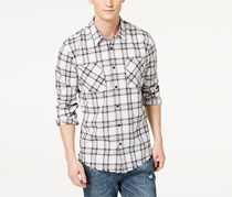 American Rag Cie Men's Jacobi Button Up Shirt, Gray Skies