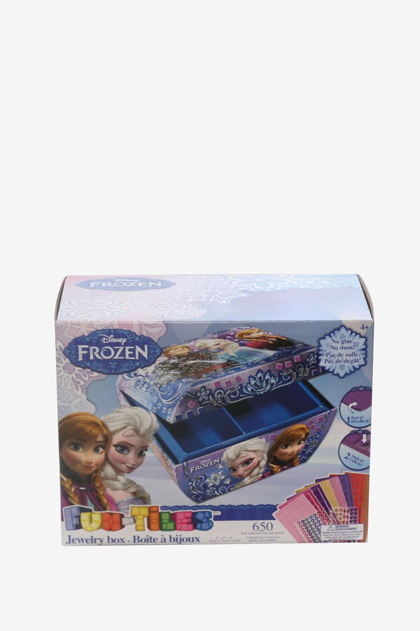 Frozen Girl's Fun-Tiles Jewelry Box, Blue Combo